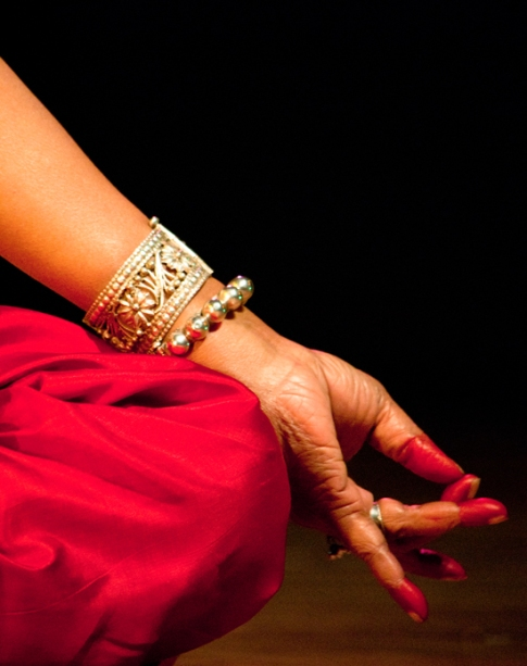 A mudra by a dancer