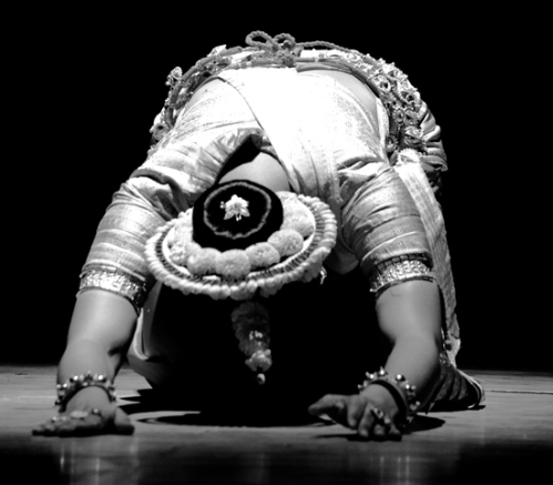 Dancer doing pranam